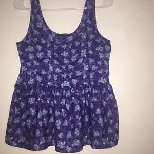 American Eagle Blue Floral Summer top SMALL